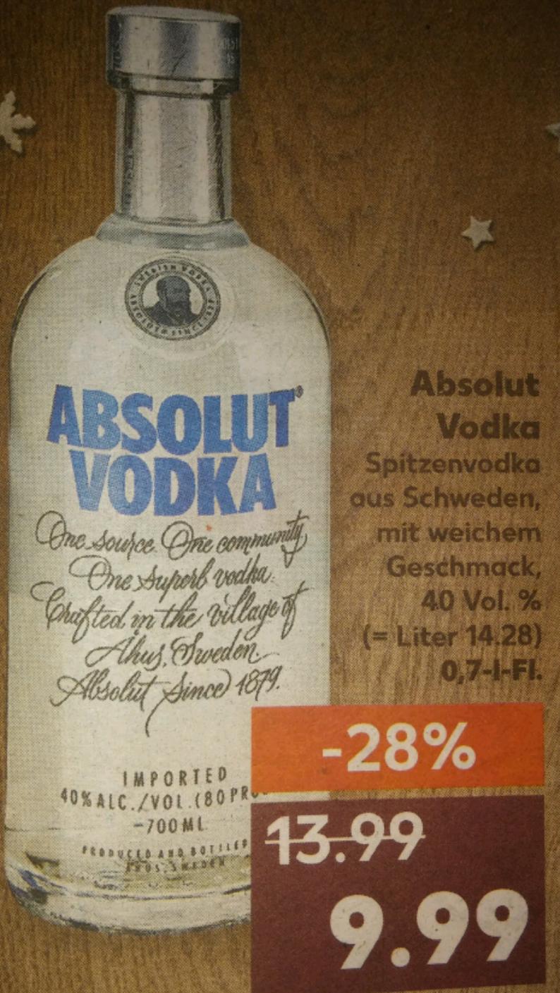 Absolut Wodka Kaufland 9.99€