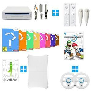 Wii GigaSet - Konsole + 8 Spiele + Mario Kart + Wii Fit + Balance Board + Remote für 139,99€