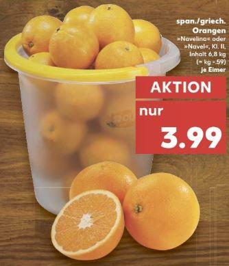 [Kaufland] ab 08.12. - Orangen satt... soviel man im Eimer tragen kann.