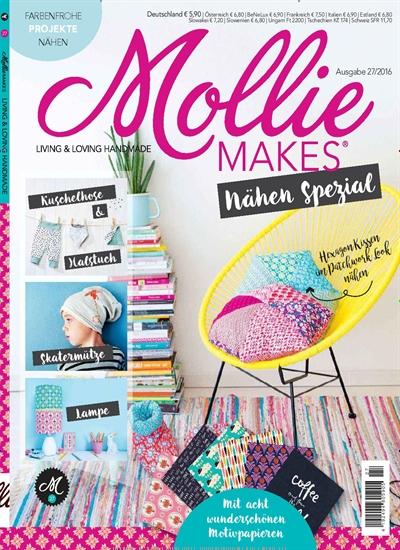 Mollie Makes DiY- Zeitschrift im Jahresabo für effektiv 14,40€ durch 21€ Geldprämie per Rücküberweisung