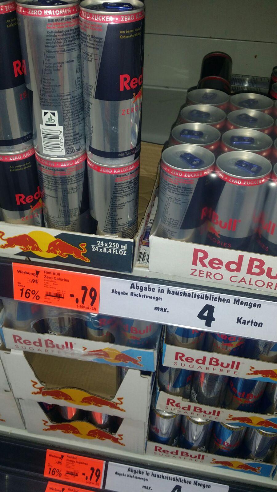 Red Bull alle Sorten für 79 Cent - Kaufland Dossenheim!