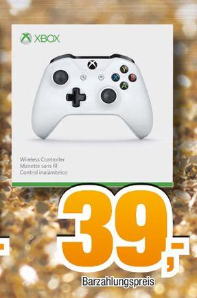 [Offline Expert-Bening Alle 19 Filialen und Toootal Markt] Microsoft Xbox One (S) Wireless Controller (weiß + Bluetooth)**Neuste Generation*** für 39,-€