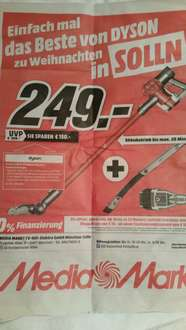 (MM-Solln Lokal) Dyson V6 Slim Flexi für 249€