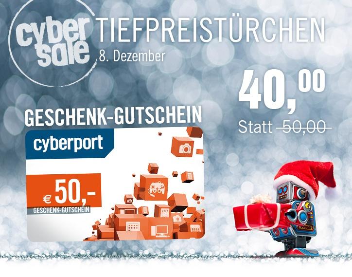 [Cyperport.de] 50 Euro Geschenkgutschein für 40 Euro