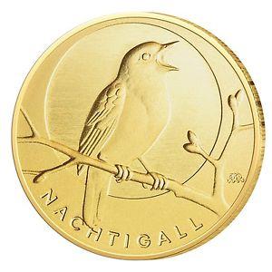 Goldmünze BRD 20 Euro 2016 st Nachtigall Prägestätte unserer Wahl 999,9er Gold