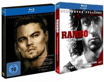 Leonardo Di Caprio Collection [5 Blu-ray Filme] für nur 10,93€ inkl. Versand / Rambo Trilogie für 9,93€ inkl. Versand @ Alphamovies
