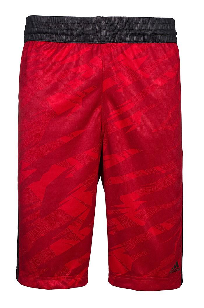 @Outlet46 adidas GFX Reversible Short Herren Basketball Hose Rot L