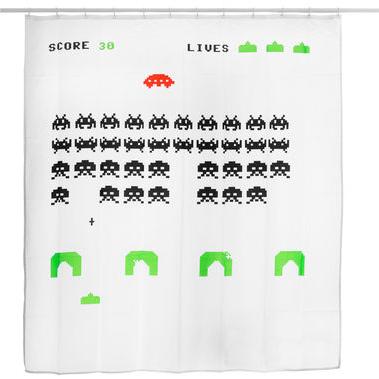 Pixel Alien Duschvorhang für 14,95€ versandkostenfrei im heise onlineshop sale