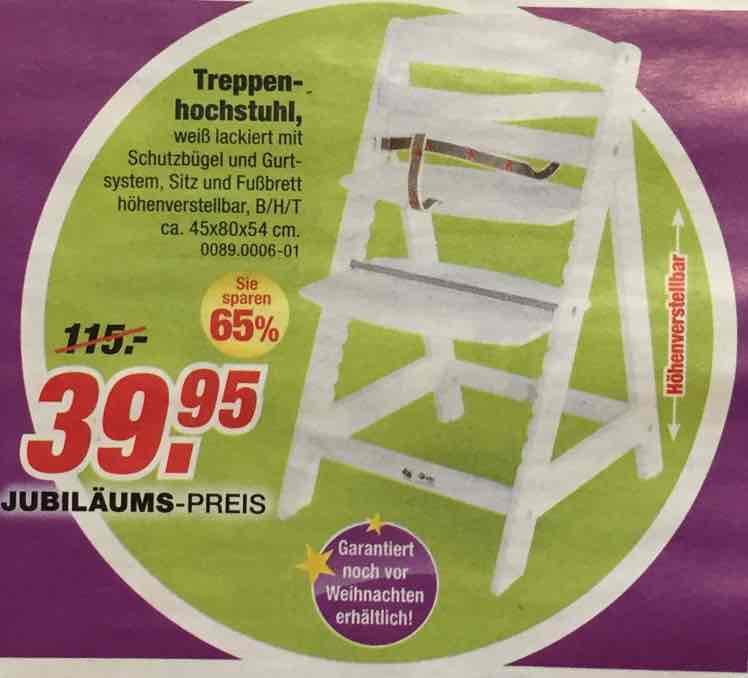 Hauck ähnlicher Treppenhochstuhl [lokal: Möbel Rieger]