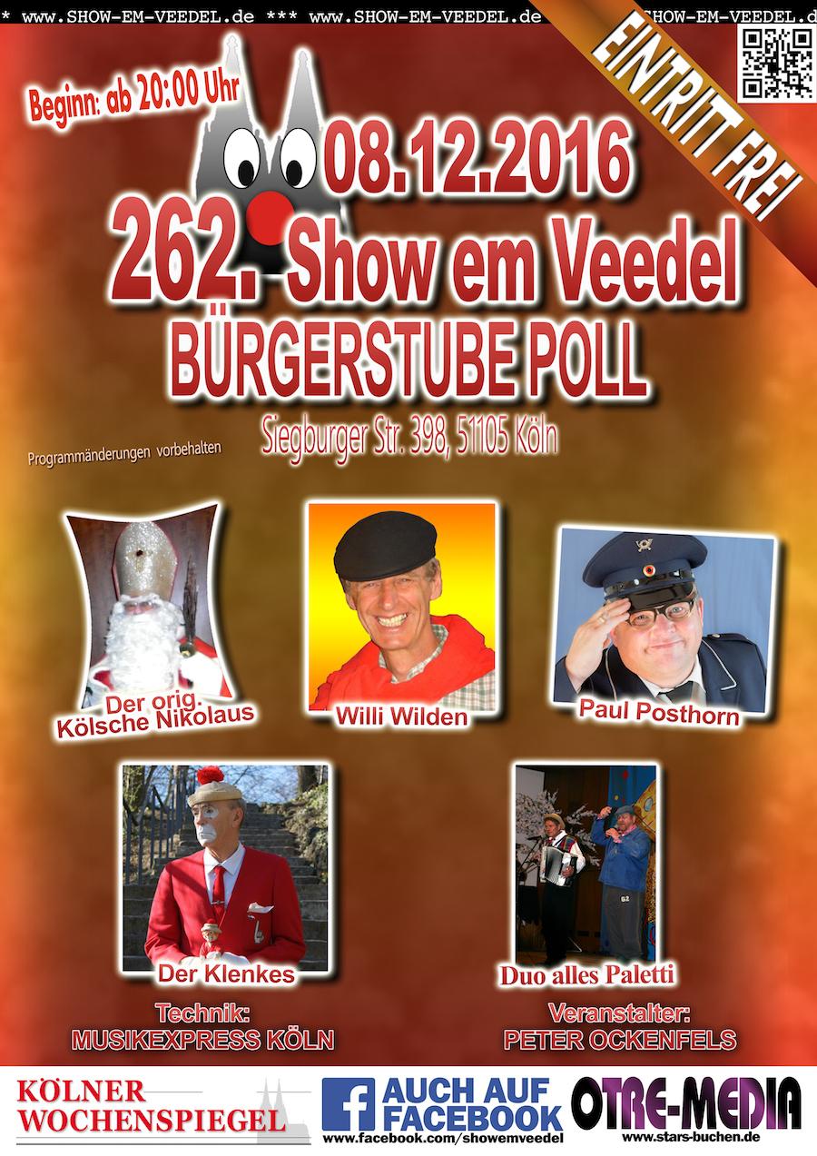 Köln - 262. Show em Veedel - 08.12.2016 - 20 Uhr - Eintritt frei