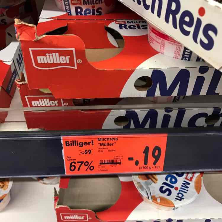 Kaufland Rüsslesheim Müller Milch Reis, alle Sorten