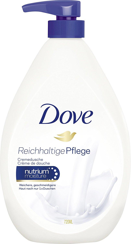 Dove Cremedusche Reichhaltige Pflege, Duschgel, Pumpspender, 2er Pack (2 x 720 ml)