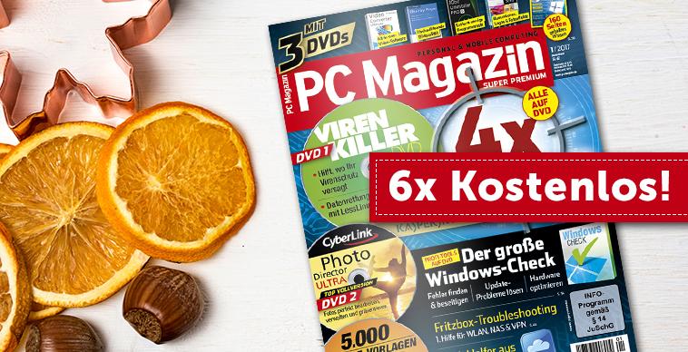 (MagClub) PC Magazin Super Premium inkl. 3 DVDs - 6 Ausgaben gratis
