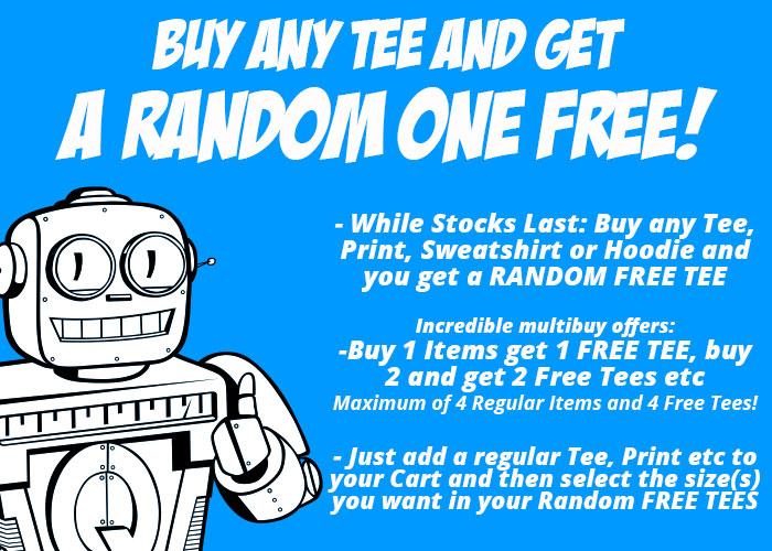 Kaufe ein T-Shirt und bekomme ein zufälliges kostenlos dazu