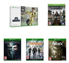 Xbox One S 500 GB (Grau) + Fifa 17 + Assassin's Creed : Syndicate + Fallout 4 + The Division + Dishonored 2 für 305,55€ (Amazon.fr)