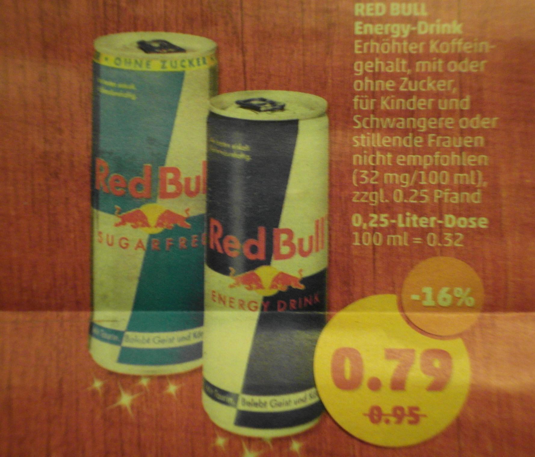[Penny] Red Bull, verschiedene Sorten, die 0,25l Dose für 79 Cent
