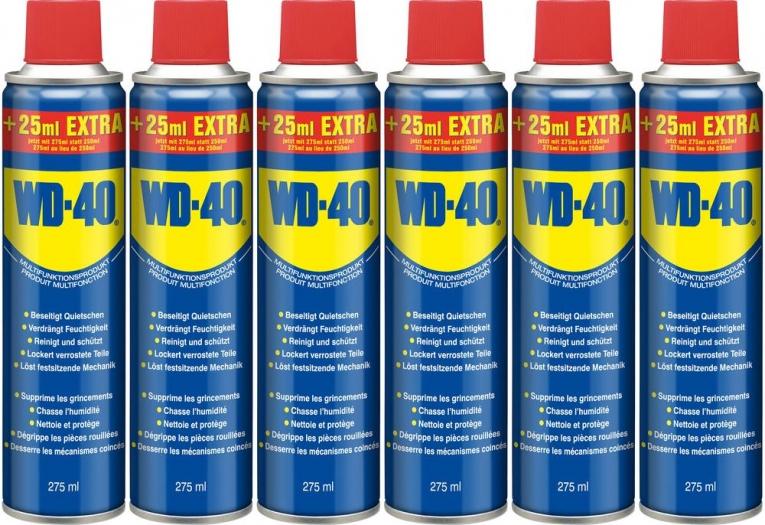 [digitalo] 6 Dosen WD40 Company Multi-Öl 275 ml, inkl. Versand für 14 €