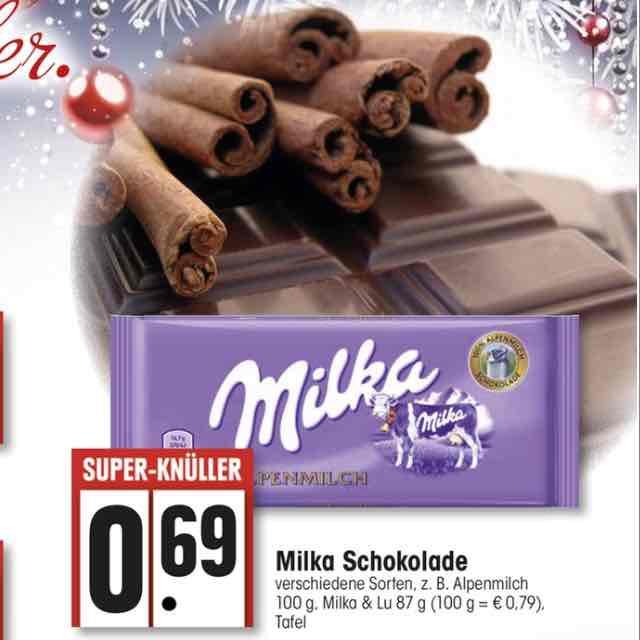 [Offline]Milka Schokolade verschiedene Sorten 0,69€
