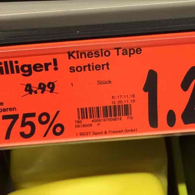 Kaufland Leipzig-Schönau - Kinesio Tapes für 1,29 statt 4,99