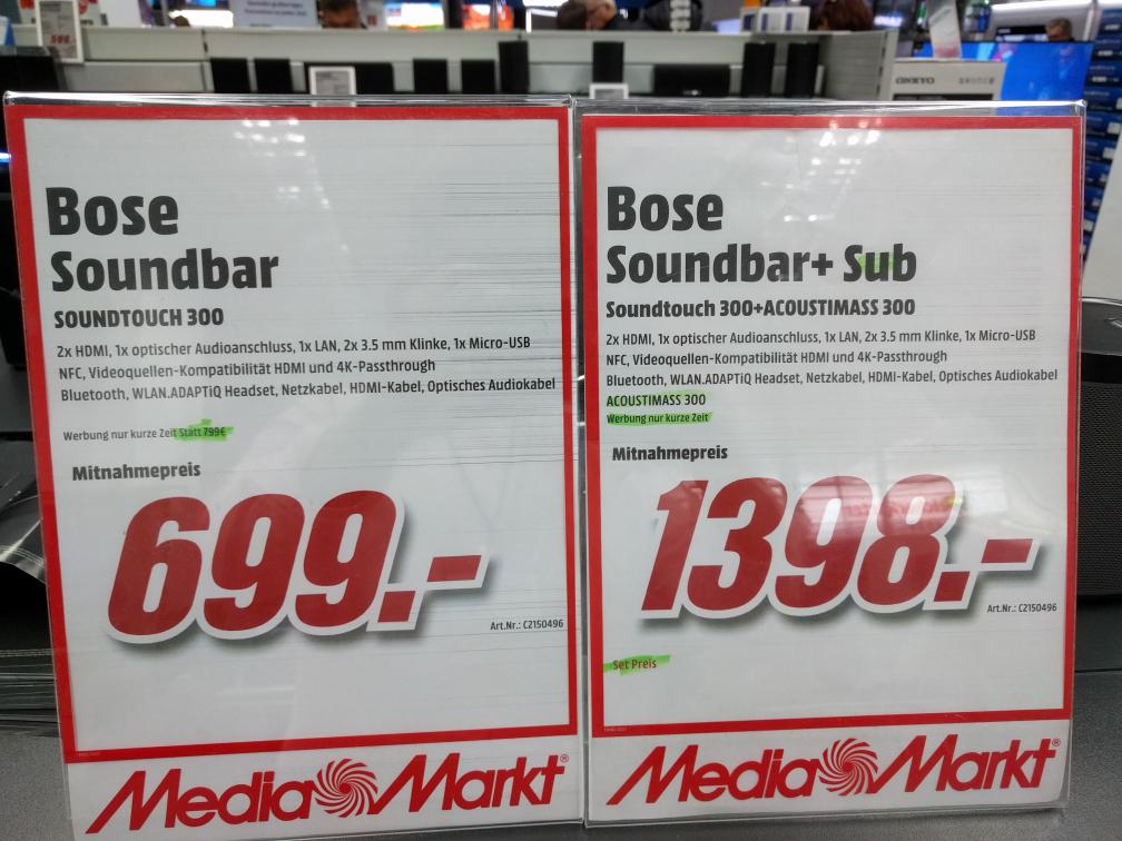 MM am Dom Köln City Bose Soundbar + Acoustimass 300