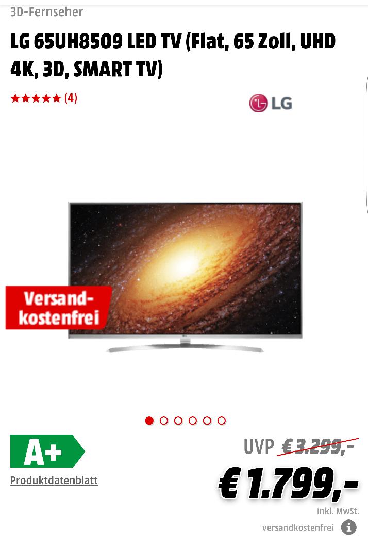 LG 65UH8509 LED TV (Tiefpreisspätschicht)