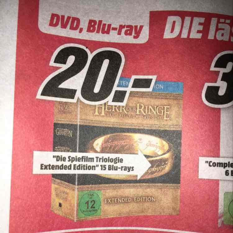 [Lokal Mediamarkt Magdeburg] Der Herr der Ringe Extended Version Blu-Ray zum Bestpreis
