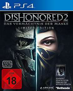 Dishonored 2 Limited Edition (+ Dishonored 1 Definitive Edition) Playstation 4 PS4 und Xbox One [Amazon]