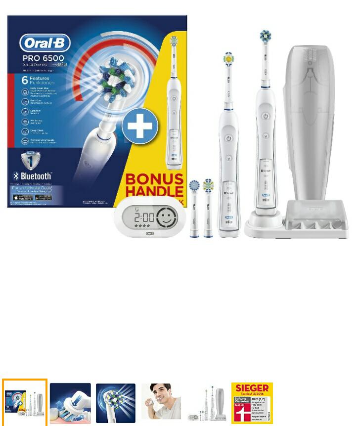 [Amazon] Oral-B SmartSeries 6500 elektrische Zahnbürste und 2. Handstück