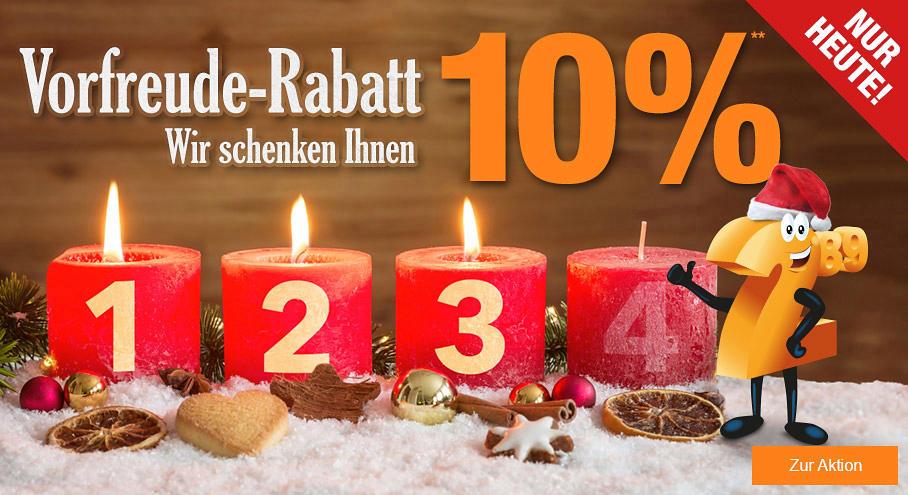 [UPDATE] auch heute (12.12.): 10% auf (fast) alles bei Plus.de