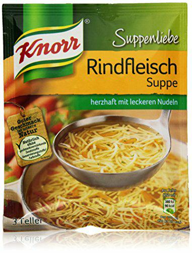 14x Knorr Suppenliebe Rindfleisch Suppe 0,33 cent Tütensuppe @amazon