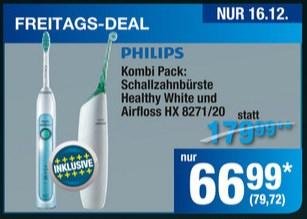 [Metro] - Philips Kombipack Sonicare Healthy white & Airfloss HX8271/20 für 79,72€ - nur am 16.12.2016
