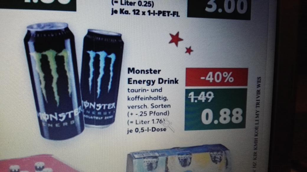 Monster Energy bei Kaufland 0.88€(anscheinend Bundesweit)