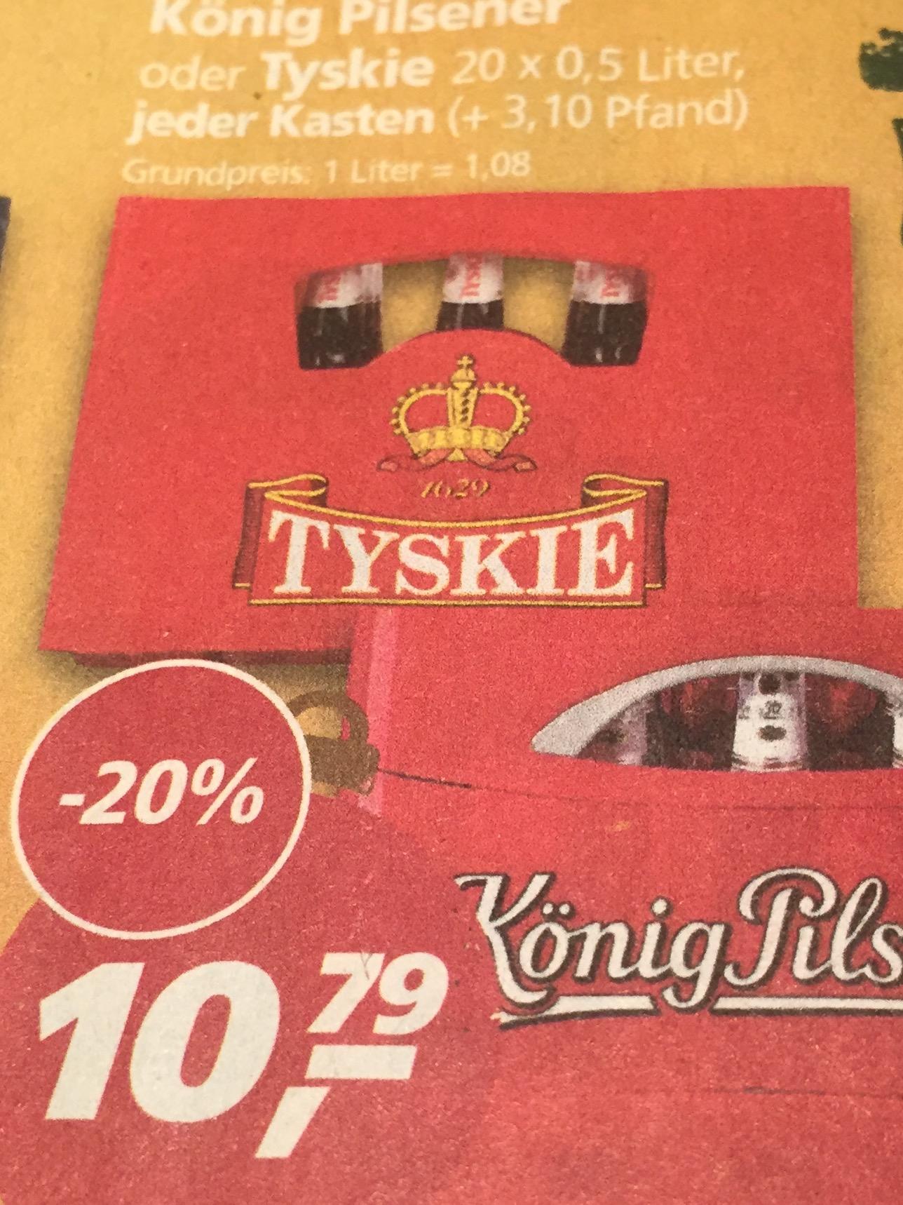 TYSKIE Bier [real,- Landshut]