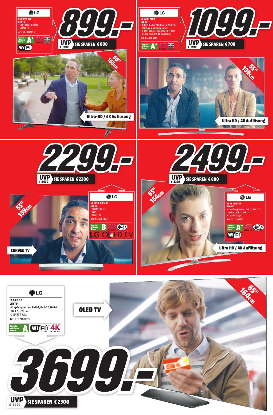LG 55C6D OLED TV deutsches Modell (Curved, 55 Zoll, UHD 4K, 3D, SMART TV) (Mediamarkt Lübeck) für 2299€ Versand möglich