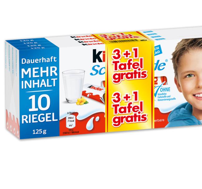 [Penny] *HEUTE GEHTS LOS* 4x125g Tafel Ferrero Kinderschokolade oder Yogurette für 2,97€ am Framstag (Freitag und Samstag)