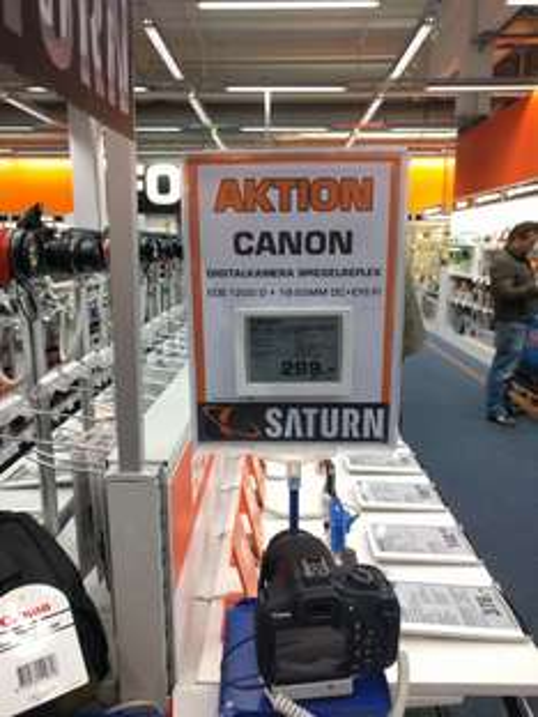 [Lokal Saturn OEZ München] Canon EOS1200D mit 18-55mm Kit + 16GB Wifi SD-Karte