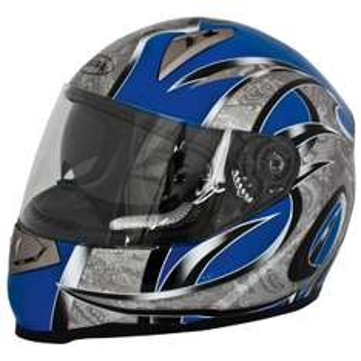 AKIRA Motorradhelm Akira Mito RO 200i Integral mit Sonnenvisier Größe: 57 - 58 cm  Farbe: schwarz/blau