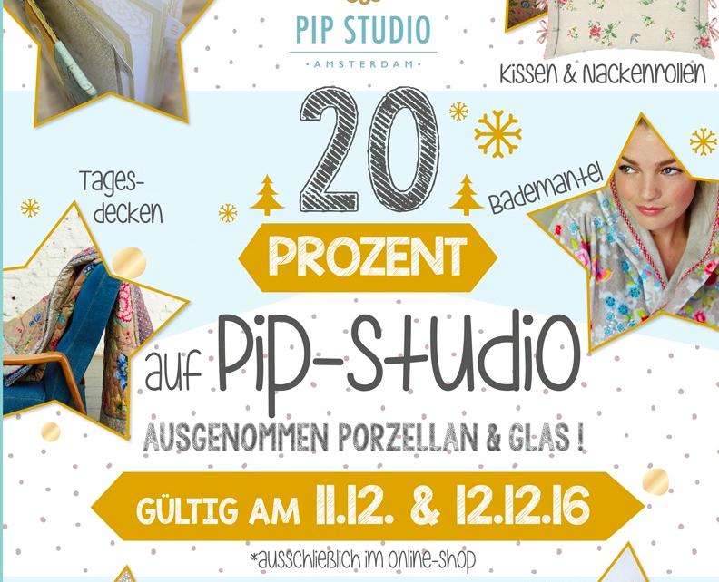 20% Rabatt auf PIP Studio Textilien + 2% Skonto bei Vorkasse bei Sylter Wohnlust