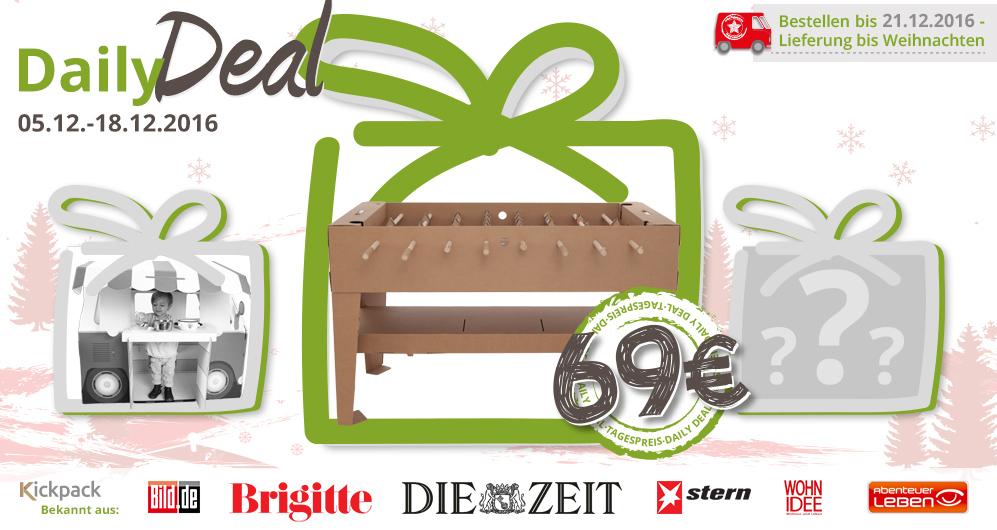 Daily Deal bei Kickpack/ Weihnachtsverkauf
