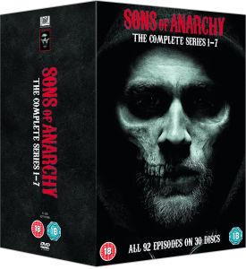 SONS OF ANARCHY - SEASON 1-7 DVD mit englischer Tonspur für 27,59€ [Zavvi]