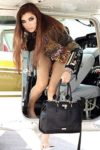 DECADE Damen Hand Henkel Tasche Nancy in braun & schwarz für 29,95€ @Amazon Blitzdeal