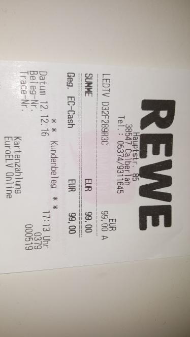 """[Rewe Calberlah]32"""" LED Full HD Telefunken Fernseher 99€"""