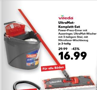Ab 15.12 - Vileda Ultramat Komplett-Set für 16,99€ @ Kaufland bundesweit
