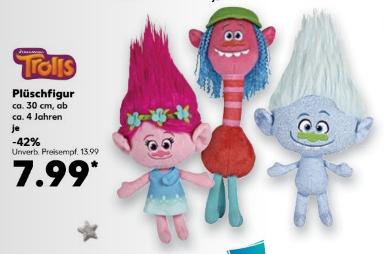 Ab 15.12 - Verschiedene ca. 30 cm große Trolls Plüschfiguren für 7,99 € pro Stück @ Kaufland bundesweit