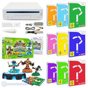 Nintendo Wii Konsole + Skylanders Swap Force + 9 GRATIS Spiele (gebraucht)