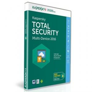 Kaspersky Total Security 2016 für 3 Geräte und 1 Jahr - PC/Mac/Android