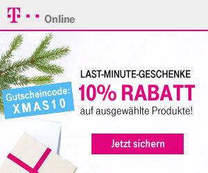 T-Online-Shop: 10% Rabatt mit XMAS10 + VerveOnes ME für 123,90 Euro