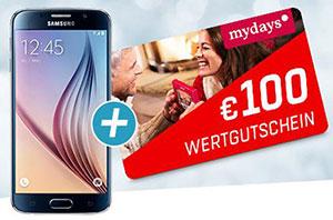Samsung Galaxy S6 32GB Gold Platinum + 100€ MyDays Gutschein ohne MBW für 359,10€ (eBay)
