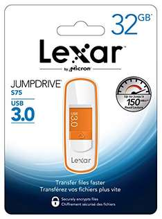 Lexar 32GB JumpDrive S75 USB 3.0 Flash Drive Memory Stick Speicherstick - Orange