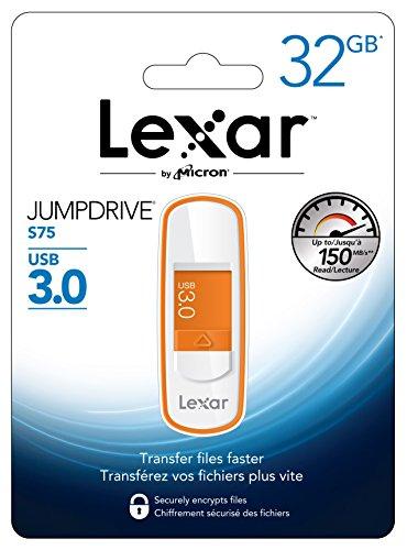 Lexar 32GB JumpDrive S75 USB 3.0 Flash Drive Memory Stick Speicherstick - Orange